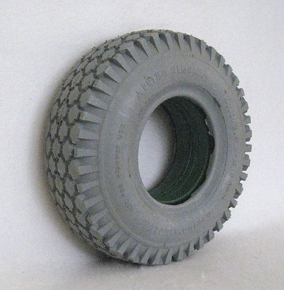 "12"" x 4"" (4.10/3.50-5) Foam-Filled Tire with Knobby Tread C156 Side View"