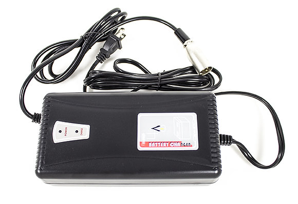 24 Volt 4 Amp Battery Charger with XLR Connector Front view