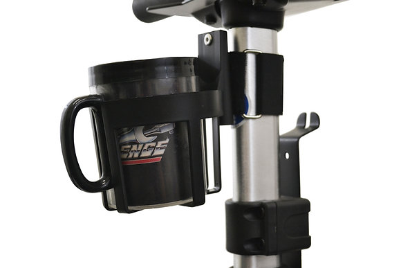 Cupholder for Mobility Scooters and Power Chairs (Exposed Tubing Mount) Side View