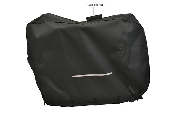 Heavy-Duty Weatherproof Cover with Top Slit for Mobility Scooters Side View