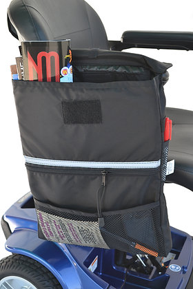Extra Large Amrest Saddle Bag for Mobility Scooters and Power Chairs (Diestco) Side View