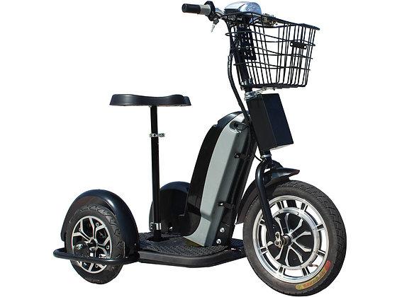 MotoTec Electric Trike 48V 800W Right Side Profile View