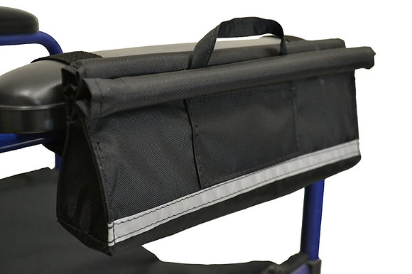 Armrest Pocket for Mobility Scooters, Power Chairs and Wheelchairs (Diestco) Side Profile View