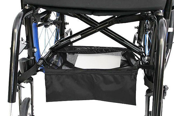 "Mesh Under-Shelf (CARGO NET) For Wheelchairs 15"" x 16"" Front View"