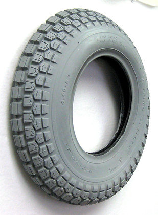 """4.00-8 (16"""" x 4"""") Pneumatic Tire With Knobby Ability Tread C168 Side Profile View"""