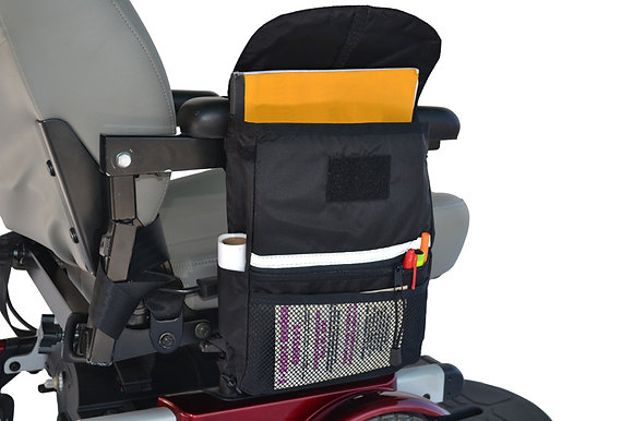 Large Armrest Saddle Bag for Mobility Scooters and Power Chairs (Diestco) Side View
