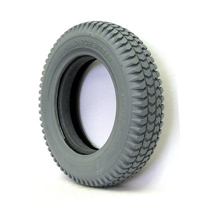 """14""""x 3"""" (3.00-8) Foam-Filled Tire with Powertrax Tread C248 (Primo) Side View"""