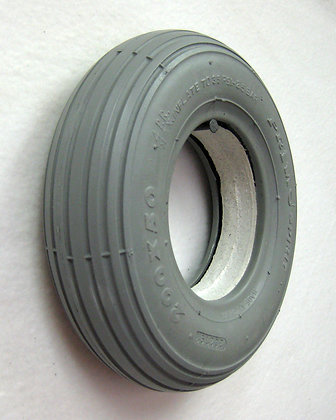 "8""x 2""(200x50) Heavy Duty Foam-Filled Tire with C179 Spirit Ribbed Tread (Primo) Alternate Side Profile View"