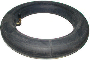 """13"""" x 4"""" (13 x 4.00-8) Inner Tube with Angled Valve Stem Side Profile View"""