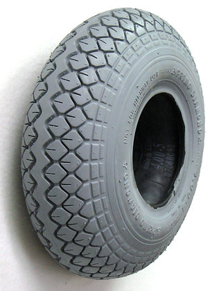 "4.00-5 (13"" x 4"", 330x100) Pneumatic Tire With Knobby Diamond Tread C154 Side Profile View"