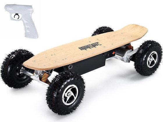MotoTec 1600W Dirt Electric Skateboard DUAL MOTOR Left Side Profile View