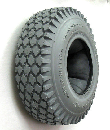 "4.10 x 3.50-5 (12"" x 4"") Pneumatic Tire With Knobby Nimble Tread C156 Side Profile View"