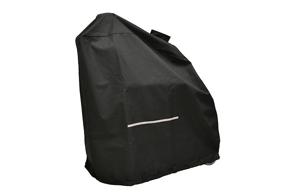 Heavy-Duty Weatherproof Cover with Hoist Lift Slit for Power Chairs Side Profile View