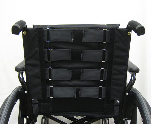 """Adjustable Padded Back Slip-On Style Fits 16"""" Chairs (Multiple Sizes) Back View"""
