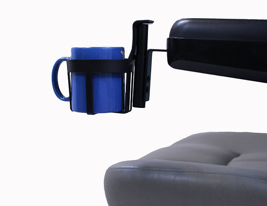 Cupholder for Freerider Luggie with Armrests Side View