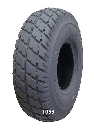 """10"""" x 3"""" (3.00-4, 260x85) Gray Pneumatic Tire with Durotrap Tread C9210 Front Tread View"""
