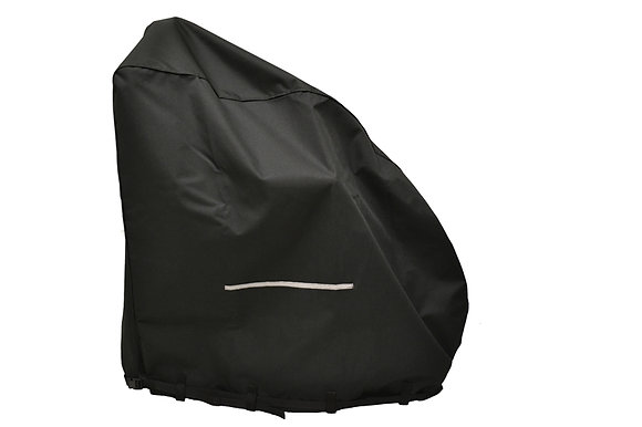 Heavy-Duty Weatherproof Cover with Full Back Slit for Power Chairs Side View