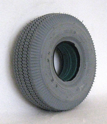 """11"""" x 4"""" (4.10/3.50-4) Foam-Filled Tire with Sawtooth Tread C189 Side View"""