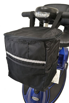 Soft Tiller Basket for Mobility Scooters Front Profile View