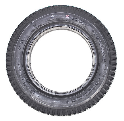 """14"""" x 3""""(3.00-8) Black Non Marking Foam-Filled Tire with Powertrax C248G-9 Tread Side View"""