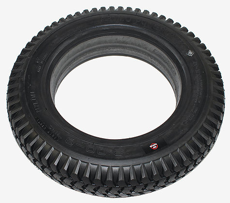 "14"" x 3"" (3.00-8) Black Non Marking Foam-Filled Tire with Powertrax Knobby Tread Side View"