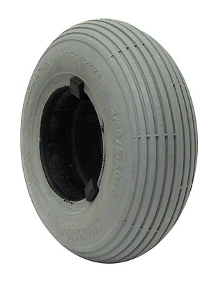 "9"" x 2-3/4"" (2.80/2.50-4) Foam-Filled Tire with C179 Spirit Ribbed Tread (Primo) Side View"