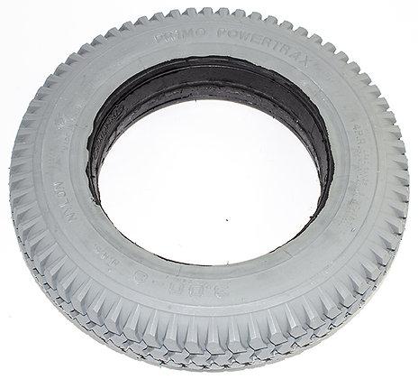 "14""x 3"" (3.00-8) Foam-Filled Tire with Powertrax Tread C248 (2.25"" B2B, Flush) Side View"