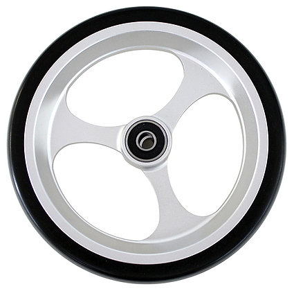 """6"""" x 1 1/2"""" Caster Wheels With 5/16'' (608-2RS) Bearings And Black Tire. (Pair) Side View"""