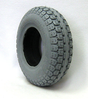 """13"""" x 4"""" (4.10/3.50-6) Foam-Filled Tire with Ability Tread C168 Side View"""