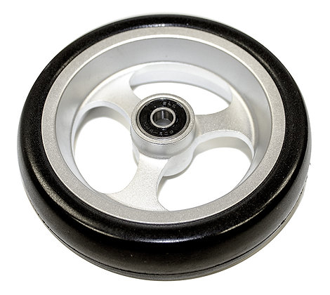 "5"" x 1 1/2"" Caster Wheels With 5/16'' (608-2RS) Bearings And Black Tire. (Pair) Alternate Side View"