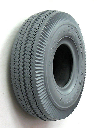 """4.10/3.50-4 (11"""" x 4"""") Pneumatic Tire With Sawtooth Tread C189 Side Profile View"""