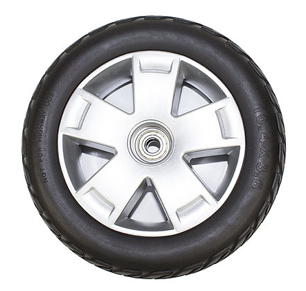 10.4 x 3.6 Flat-Free Front Wheel Assembly for 4-Wheel Pride Victory 10 (SC710) Side Profile View