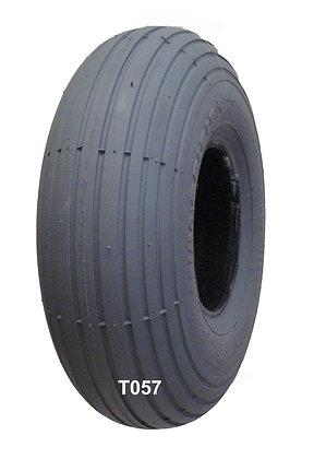 "10"" x 3"" (3.00-4, 260 x 85) Pneumatic Tire With Spirit Rib Tread C179 Front Tread View"