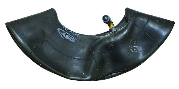 "4.00-8 (16"" x 4"") Inner Tube with Angled Valve Stem Side View"