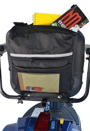 Mid Range Seat Back Bag for Wheelchairs, Mobility Scooters and Power Chairs Back View