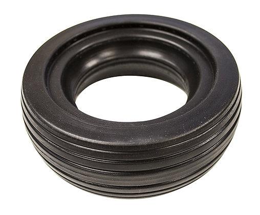 "6""x2"" (150x50) Black Solid Urethane Tire With 6 Rib Tread Side View"