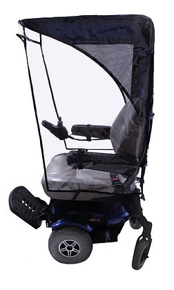 Max Protection Weather Breaker Canopy for Mobility Scooters and Wheelchairs Side View