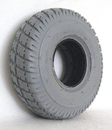 """10"""" x 3"""" (3.00-4)(260x85) Foam-Filled Tire with Durotrap C9210 Tread (Narrow) Side View"""
