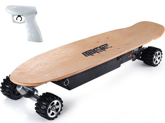 MotoTec 600W Street Electric Skateboard Left Side Profile View