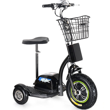 MotoTec Electric Trike 48V 500W Right Side Profile View
