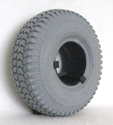 """10"""" x 3"""" (3.00-4)(260x85) Foam-Filled Tire with Powertrax Tread C248 (Primo) Side View"""