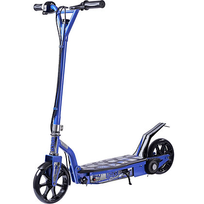 UberScoot 100 Watt 24 Volt Scooter by Evo Powerboards Blue Left Side Profile View