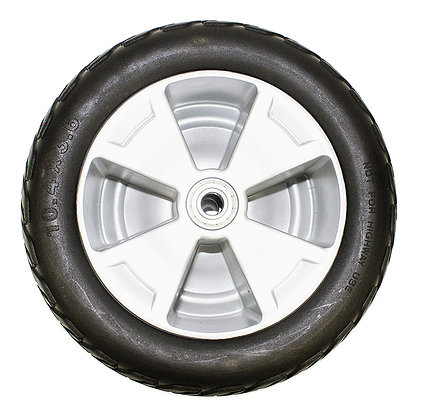 10.4 X 3.6 Flat-Free Front Wheel Assembly for 3-Wheel Pride Victory 10 (SC610) Side Profile View