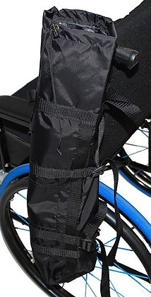 Universal Equipment Holder for Power Chairs, Wheelchairs and Scooters Front View