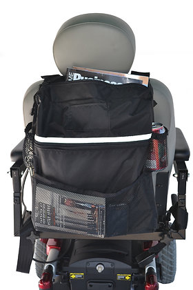Deluxe Seat Back Bag for Wheelchairs, Mobility Scooters and Power Chairs (Diestco) Back View