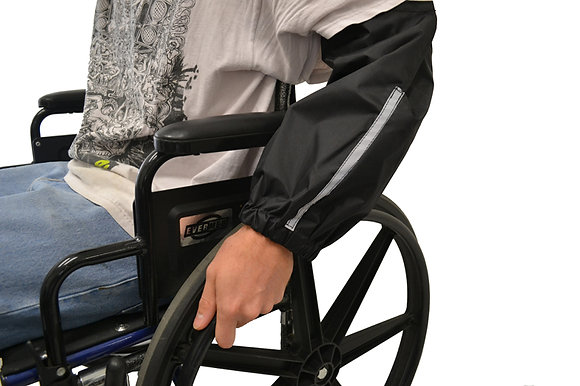 Sleeve Guards for Manual Wheelchair Use Side Profile View in Use
