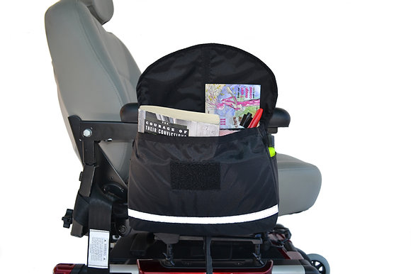 Deluxe Armrest Saddle Bag for Mobility Scooters and Power Chairs (Diestco) Side View
