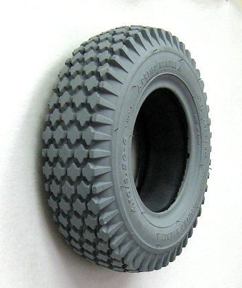 "4.10/3.50-6 (13"" x 4"") Pneumatic Tire With Knobby Nimble Tread C156 Side Profile View"