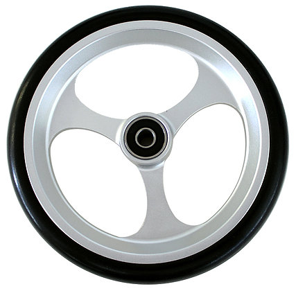 "6"" x 1"" Caster Wheels With 5/16'' (608-2RS) Bearings and Black Tire (Pair) Side View"