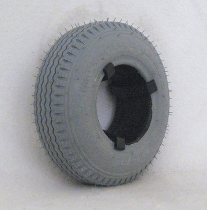 """9"""" x 2-3/4""""(2.80/2.50-4) Foam-Filled Tire with Sawtooth Tread C178 (Primo) Side View"""